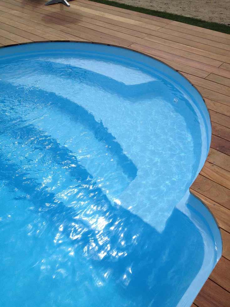 Escalier piscine syracuse Mediester France Poitiers